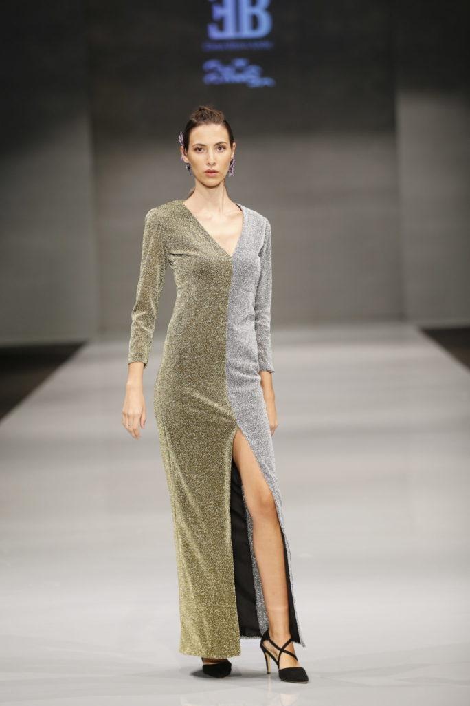 vestido plata oro